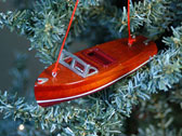 Mini Classic Speedboat Ornament